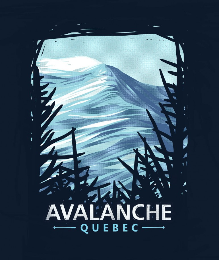 illustration montagne avalanche quebec